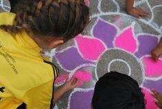 Kids Rangoli Diwali Art