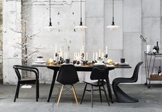 Dining room design ideas, whatever the space and budget you have to play with. Find inspiration for your dining room design with these looks and styles Dining Room Design, Dining Room Chairs, Dining Room Furniture, Dining Table, Stil Inspiration, Dining Room Inspiration, Casual Dining Rooms, English Interior, Scandinavian Home