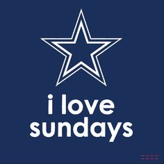 I love Sundays #DallasCowboys