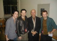 Trent, Lohner, Charlie, and Florian Schneider from Kraftwerk Florian Schneider, Rob Sheridan, Trent Reznor, Easy Listening, Hanging Out, Music, Distance, Dreams, Twitter