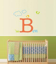 Cute idea for a baby boy room.