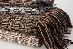 Mantones de llama pura 100% natural tejidos a mano en telar con diseño de barracán
