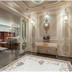 Home Office Design Layout Office Interior Design, Luxury Interior Design, Office Interiors, Home Design, Floor Design, Plafond Design, Classic Interior, Luxury Home Decor, Ceiling Design