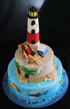 Lighthouse Cake by Butterfly Bakeshop