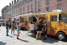 Photo New York City Food Truck Festival. Coming to South Street Seaport . Every year in August in Financial District, New York Image 3 of 4 in gallery.