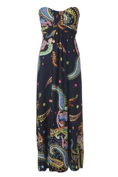 Midnight Paisley Maxi Dress- so want this one:)