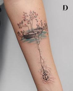 creative watercolor tattoo ©️️️️️️️ tattoo artist Deborah Genchi Regardless of what tattoo style you're looking for, Deborah Genchi will have you covered. You'll fall in love with her incredibly versatile tattoos. Time Tattoos, Body Art Tattoos, New Tattoos, Small Tattoos, Sleeve Tattoos, Tatoos, Woman Body Tattoo, Deer Skull Tattoos, Family Tattoos