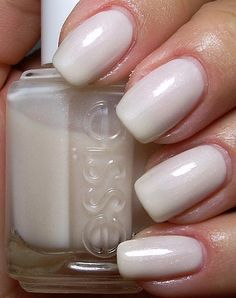 Essie - Jackie Oh My - It's a light pearly white but takes several layers to get it as white as it is in the picture!