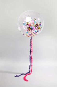Midnight confetti balloon
