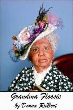 Grandma Flossie, 30 Size, Old Woman Series