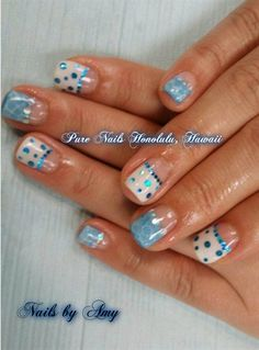 Light Blue Nails, so cute! by TrumpGelUSA from Nail Art Gallery