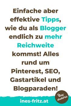 Du gibst dir beim Bloggen ganz viel Mühe aber die Blogleser bleiben leider noch aus? Mit diesen Tipps und Tricks kannst du es endlich schaffen und bekommst sehr viel mehr Reichweite! Content Marketing, Seo, Passive Income, Search Engine Optimization, Liberty, Business, Earning Money, Blogging, Finance