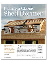 Dormer Styles | Frame a Classic Shed Dormer