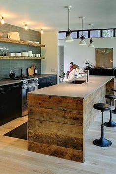 Fabriquer un îlot de cuisine- 35 idées de design créatives | hacks ...