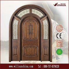 madera maciza puerta de arco