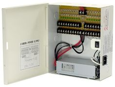 12V DC 18ch 29 Amps Power Supply Box for CCTV Security Cameras, Fused, UL LISTED by ESS. $84.00. 18 channel 12V DC Power Supply Box with High output of 29 Amps, very useful for IR (Night-Vision) cameras. (Approximately 1.5 Amp per channel) Ideal for multiple CCTV Security Cameras. UL Listed, reliable Product.