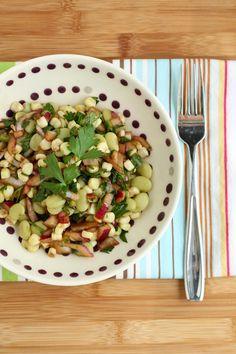 Buttery baby limas and corn salad Lima Bean Recipes, Bean Salad Recipes, Healthy Eating Recipes, Healthy Salads, Healthy Lunches, Eat Healthy, Legumes Recipe, Salad Sauce, Beans Salad