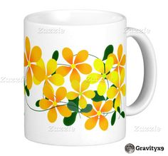 Bright and Cheery Coffee Mug with Flowers of Orange & Yellow   by #gravityx9 #Zazzle -