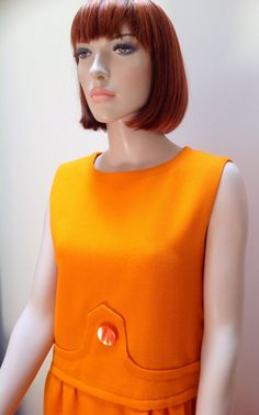 1960s Pierre Cardin orange space age shift dress Etsy Vintage