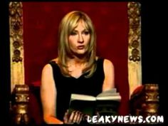 JK Rowling reads Half-Blood Prince at An Evening with Harry, Carrie & Garp (Part 2) - YouTube