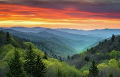 Great Smoky Mountains Art Print featuring the photograph Great Smoky Mountains National Park Gatlinburg TN Scenic Landscape by Dave Allen #photo #art #artwork #mountains #smokymountains #decor