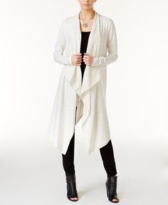 Bar III Cascade Duster Cardigan, Only at Macy's