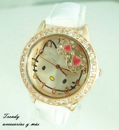 Reloj hello kitty color blanco
