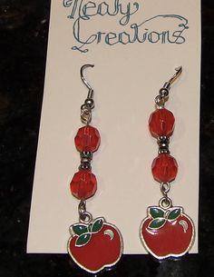 Handmade Red Apple Earrings by NealyCreations on Etsy