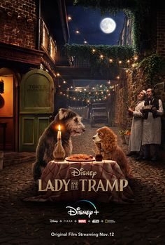 At the Expo Disney has revealed the first trailer for the live action remake of Lady & The Tramp, starring Tessa Thompson and Justin Theroux. Lady and the Disney Films, Disney Cinema, Disney Pixar, Upcoming Disney Movies, Disney Wiki, Cinderella Live Action, Live Action Movie, Action Movies, Disney Live Action Films