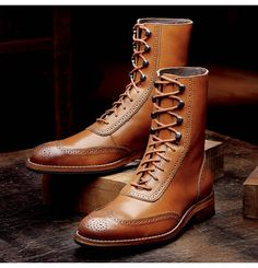 Men's Winchester 1000 Mile Brogue Boot - W06491 - Vintage Boots Repinned by www.silver-and-grey.com