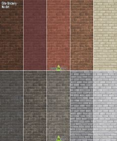 Around The Sims 4: Dirty Elite Brickery Walls • Sims 4 Downloads