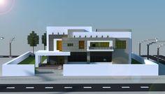 A Remake In Mincraft Of An Award Winning Modern House Design Download Link