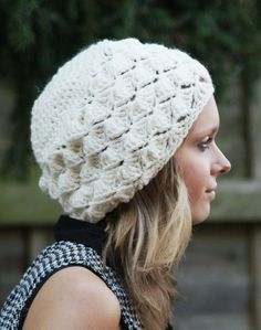 PDF Tam Slouchy Beanie Hat Pattern Crocheted ♥ by slouchiehats, $5.25