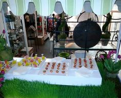 Jewell's beautiful hors d'Oeuvres cart