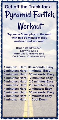 This Pyramid Fartlek Workout is a great way to take your speed workout off the track on onto the streets! Outdoor Running Workouts, Treadmill Workouts, Running Tips, Sprinting Workouts, Track Workouts For Sprinters, Calisthenics Workout, Running Track, Toning Workouts, Fitness Exercises