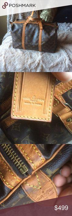 Authentic LOUIS VUITTON SOUPLE 35 OVERNIGHT BOSTON Authentic LOUIS VUITTON SOUPLE OVERNIGHT Boston travel bag vintage EUC Louis Vuitton Bags