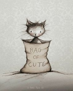"""Bag of Cute"" ~ Kitty cat."