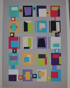 This is my version of Paint Chips. This is based on a pattern in Karla Alexander's book, Stack, Shuffle, and Slide. #notyetquilted #karlaalexander #stackshuffleslide #silverthimblequilting #fvmqg Norma E Hanson 3/19/16