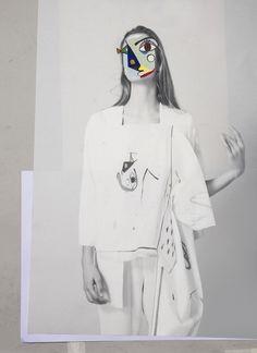 Fashion Sketchbook - fashion collage; creative fashion portfolio inspiration // Ernesto Artillo