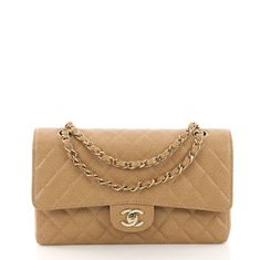 218cd14fabd8 Chanel Vintage Classic Double Flap Bag Quilted Caviar 38440213. Rebag