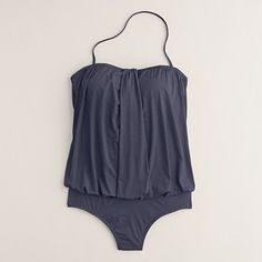totally want this Jersey Lomellina® draped blouson tank in rich peacock (shown here in slate) J.Crew