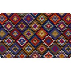 Bungalow Flooring Printed Kilim Blanket 18 in. x 27 in. Mat-20389091827 at The Home Depot