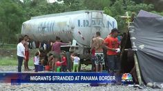 There's a new migrant crisis where many Cubans are stranded in a journey they hope will end in the United States. http://www.nbcnews.com/nightly-news/video/these-cuban-immigrants-are-stranded-at-panama-s-border-677094979505