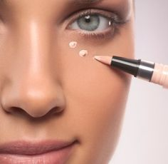 Instead of concealer use a light reflecting product like Mary Kay's Facial Highlighting Pen