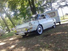Skoda with Camptrailer Cars, Prague, Antique Cars, Autos, Car, Automobile, Trucks