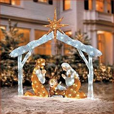 nativity scene w stable christmas outdoor display christmas yard - Nativity Outdoor Christmas Decorations