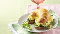 Ranch dressing perfectly flavors this egg salad that is perfectly suited to croissant rolls.