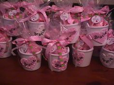 These were the favors we did at a recent baby girl shower. EZ