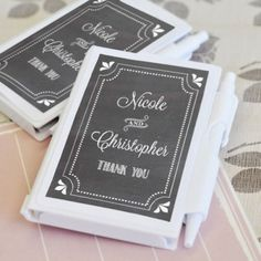 Personalized Chalkboard Notebook Favors by Beau-coup