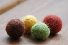 I love these felt balls in a jar or bowl (so does my cat)